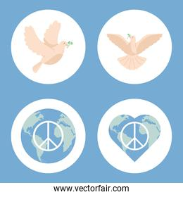 four day of peace icons