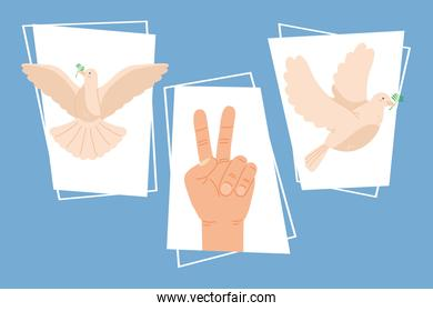 three day of peace icons