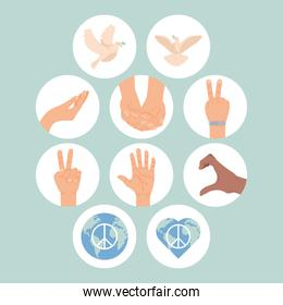 ten day of peace icons