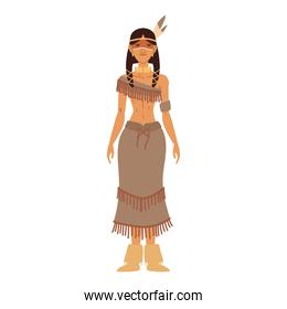 young woman indigenous