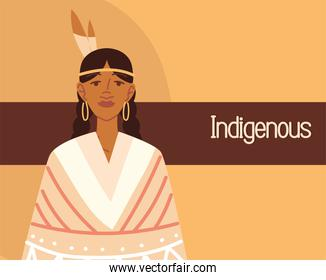 indigenous woman with feather