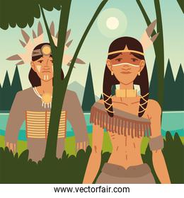 man and woman indigenous