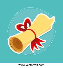certificate roll icon