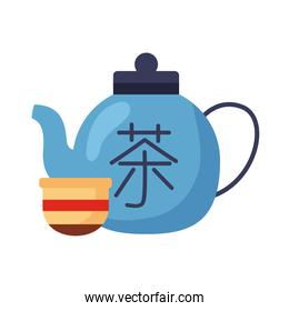 chinese teapot and cup