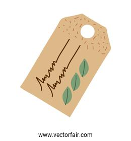 ecology label of card