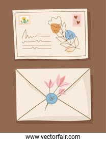letter and card