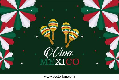mexico independence day postcard