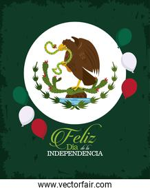 mexico independence day emblem