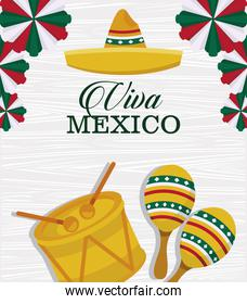 happy mexico independence day postcard