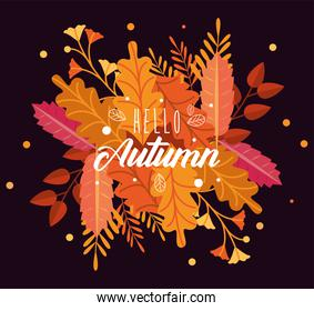 autumn leafs and lettering