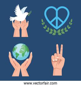 peace four icons