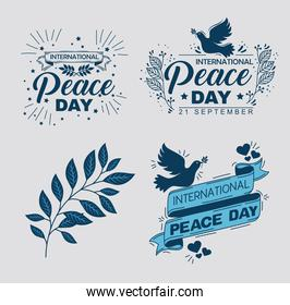 international peace day icons