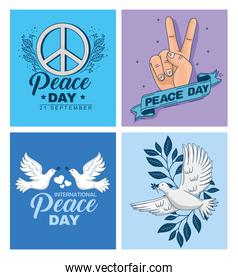 banners of international peace day