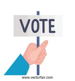 hand with vote label