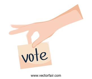 hand with vote sign