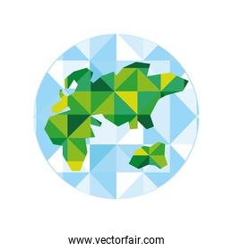 world map africa abstract