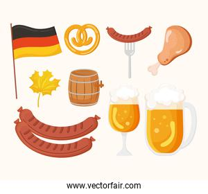 traditional icons of oktoberfest