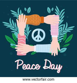 hands together peace day