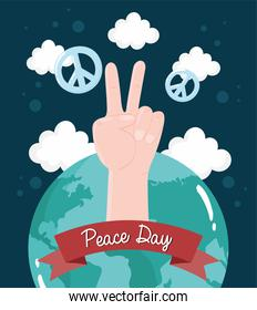 hand and world peace day