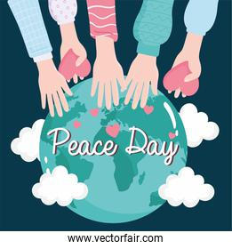 world peace hands and love