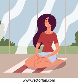 young woman in meditation