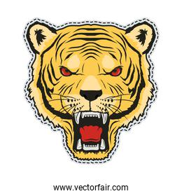 tiger patch retro style