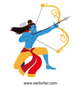 lord rama holding bow and arrow