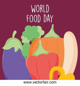world food day design with vegetables