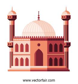 muslim mosque with dome