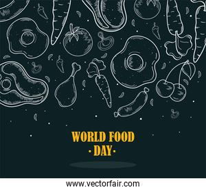 World food day icons