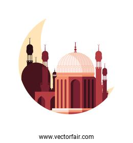mosque muslim with moon