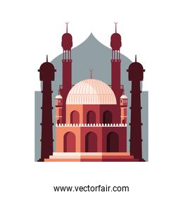 muslim mosque with towers