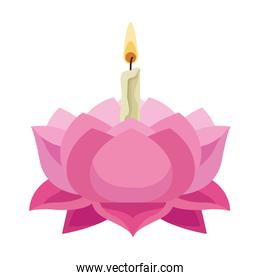 thailand lotus with candle