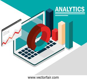 graph of analytics and financial
