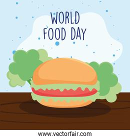 world food day lettering