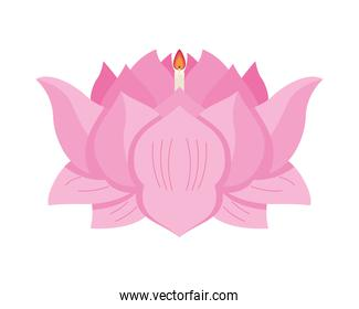 lotus raft with candle