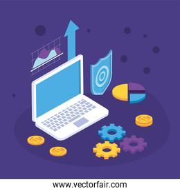 payment solutions with laptop