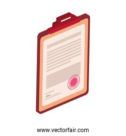 clipboard with legal document