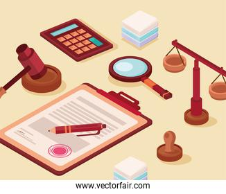 clipboard and legal icons